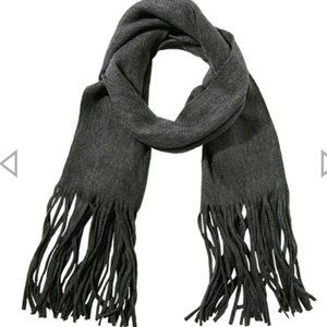 Lucky Brand Solid Brushed Grey Scarf